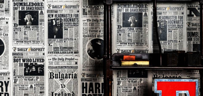 Harry Potter Daily Prophet Wallpaper Design By MinaLima
