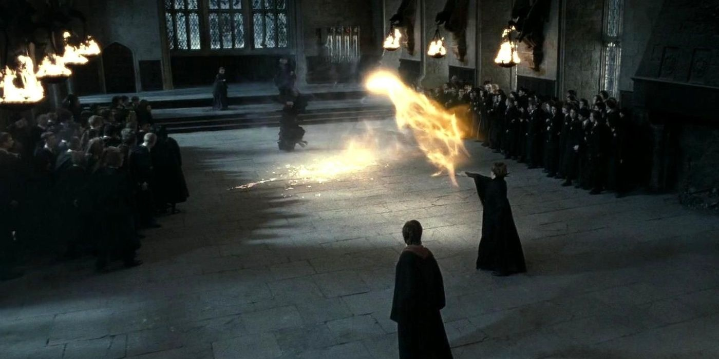 4. Minerva McGonagall Vs Severus Snape - Harry Potter And The Deathly Hallows Part 1 Cropped