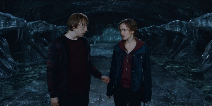 ron and hermione kiss Cropped